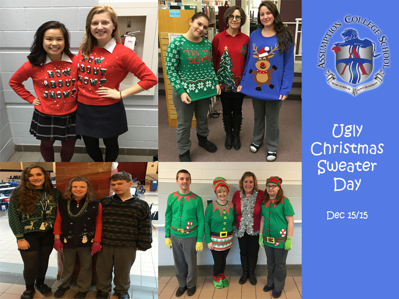 Ugly Christmas Sweater Day | Assumption College School